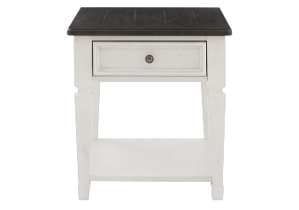 White and Dark Grey End Table product photo