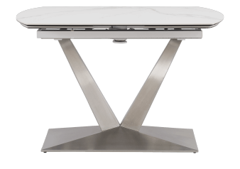 White and Grey Ceramic and Metal Table with Integrated Extention product photo
