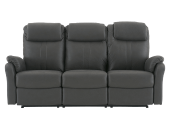 Dark Grey Reclining and Motorized Upholstered Sofa product photo