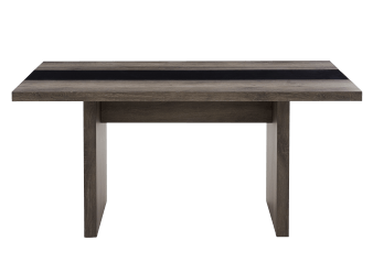 Grey Table with a Black Glass Insert product photo