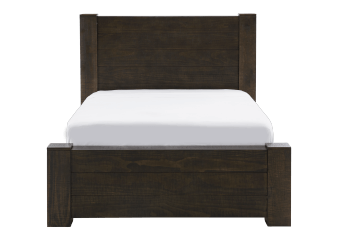 Brown Grey Wood - King Bed product photo