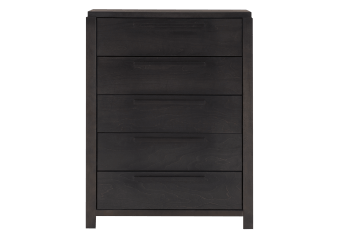 Dark Grey Birch Wood 5-Drawer Chest product photo