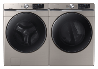 Samsung Washer and Dryer Set - WF45R6100ACUS DVE45T6100CAC product photo