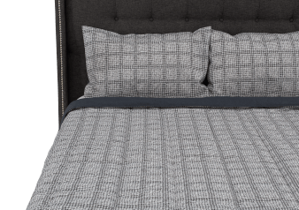 White and Grey Comforter Set - King Size product photo