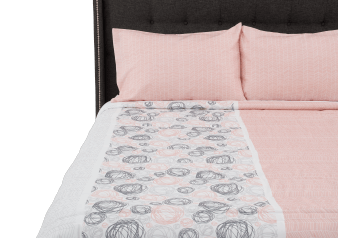 White and Pink Comforter Set - King Size product photo