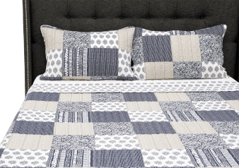 Grey and Blue Quilt - Queen Size product photo