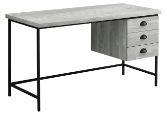 Grey and Black Desk with Drawers product photo