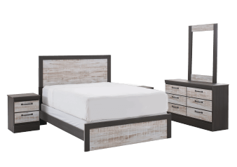 Black and Grey Bedroom Set - Black and Grey product photo