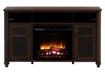Brown Electric Fireplace product photo
