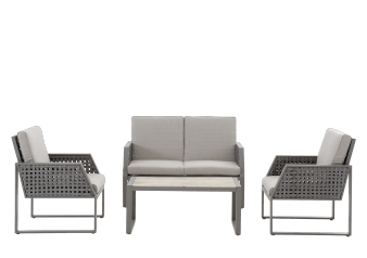 Grey Metal and Wicker Patio Furniture product photo