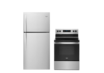 Whirlpool Refrigerator and Range Set - WRT549SZDM YWFE515S0JS product photo