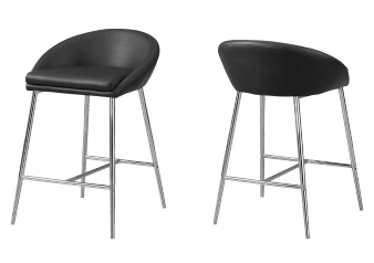 Metal Stool with Black Seat product photo