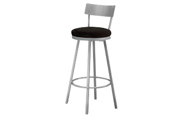 Silver Grey Metal Stool product photo