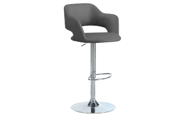 Silver Grey Metal Stool with Grey Seat product photo