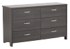 Dark Grey 6-Drawer Dresser product photo other01 S