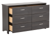Dark Grey 6-Drawer Dresser product photo other02 S