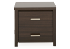 Dark Grey Wood Nightstand product photo