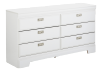 White 6-Drawer Dresser product photo other01 S