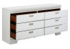 White 6-Drawer Dresser product photo other02 S