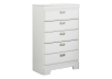 White 5-Drawer Chest product photo other01 S