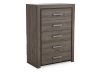 Brown Grey 5-Drawer Chest product photo other01 S