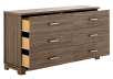 Brown 6-Drawer Dresser product photo other02 S
