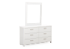 White 6-Drawer Dresser and Mirror Set product photo other01 S