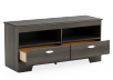 2 Shelves Grey TV Stand product photo other02 S