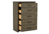 Brown Grey 5-Drawer Chest product photo other02 S