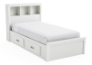 White Twin Kid Storage Bed product photo other01 S