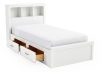 White Twin Kid Storage Bed product photo other02 S