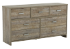 Brown 7-Drawer Dresser product photo other01 S