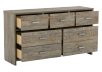 Brown 7-Drawer Dresser product photo other02 S