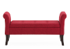 Red Upholstered Storage Bench product photo