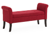 Red Upholstered Storage Bench product photo other01 S