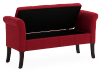 Red Upholstered Storage Bench product photo other02 S