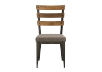 Brown Metal Chair with Upholstered Seat product photo