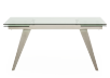 Rectangular Stainless Steel and Tempered Glass Table product photo