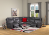 Grey Reclining and Motorized Sectional Sofa product photo other11 S