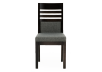 Dark Grey Birch Chair with Upholstered Seat product photo