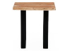 Wood End Table with Metal Legs product photo