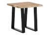 Wood End Table with Metal Legs product photo other01 S