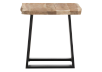 Wood End Table with Metal Legs product photo other02 S