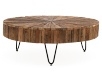 Brown Wood and Metal Coffee Table product photo