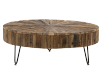 Brown Wood and Metal Coffee Table product photo other01 S