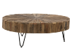 Brown Wood and Metal Coffee Table product photo other02 S
