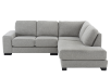 Grey Beige Upholstered Sectional Sofa product photo