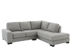 Grey Beige Upholstered Sectional Sofa product photo other01 S