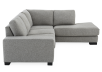 Grey Beige Upholstered Sectional Sofa product photo other02 S