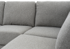 Grey Beige Upholstered Sectional Sofa product photo other03 S